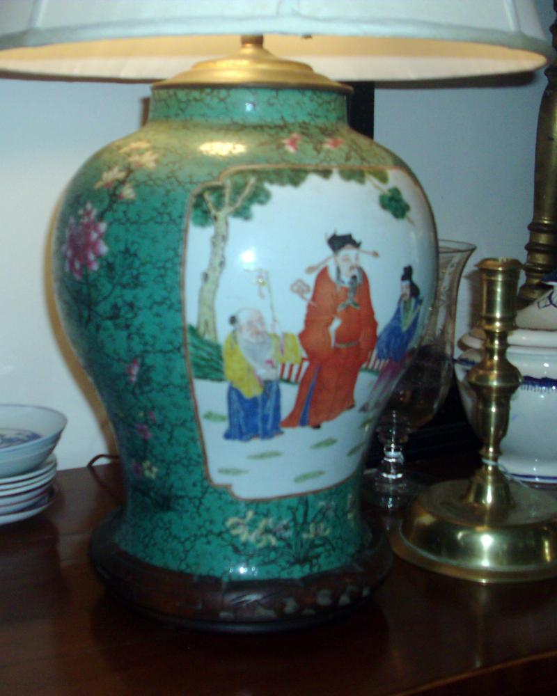 South street antiques lamps lighting large par 18th c chinese porcelain jars converted to lamps reviewsmspy