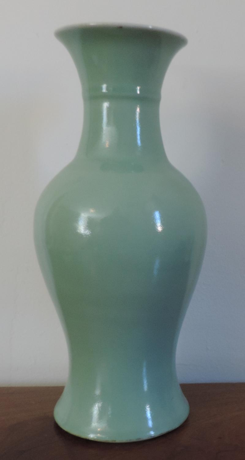South street antiques porcelain chinese and export tall chinese monochrome celadon glaze baluster shaped vase 19th c reviewsmspy