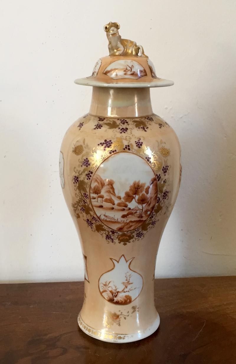 South street antiques porcelain chinese and export chinese export porcelain vase with sepia landscape reserves on an apricot ground reviewsmspy